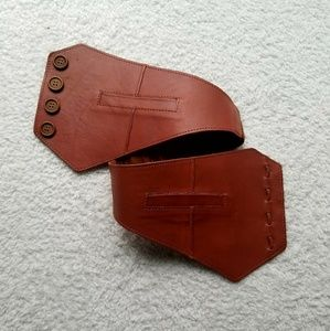 Gorgeous Lucky Penny Tan Leather Belt